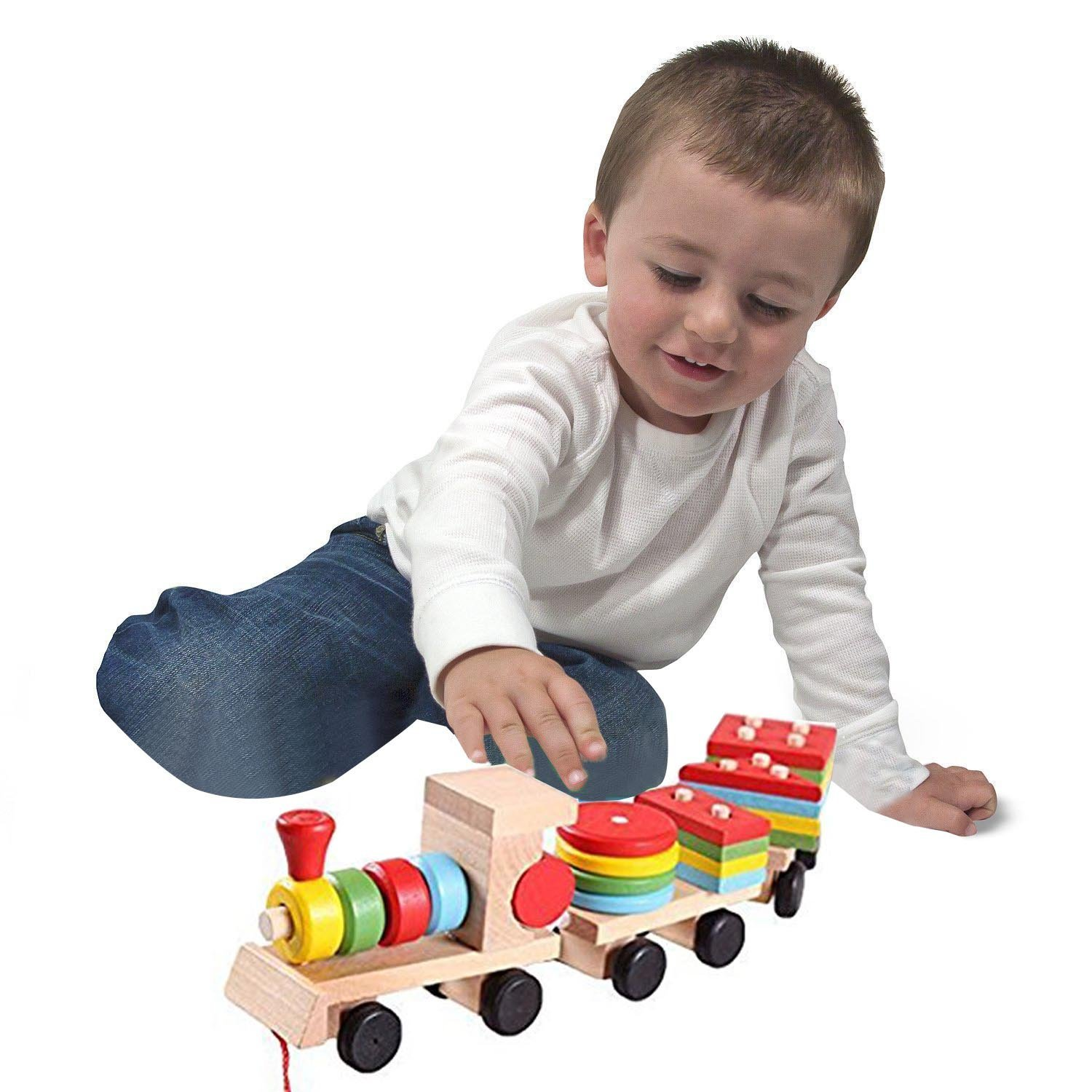Get Quotations · Emotionlin(TM) Deluxe Stacking Train Set Toddler Toy Three Section Wooden Car Sets Block  sc 1 st  Shopping Guide - Alibaba & Cheap Wooden Train Sets With Table find Wooden Train Sets With ...