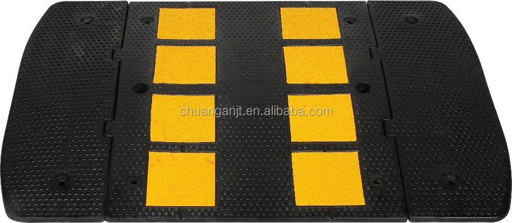 Factory price Reflective Rubber Road Hump 600*500*32mm