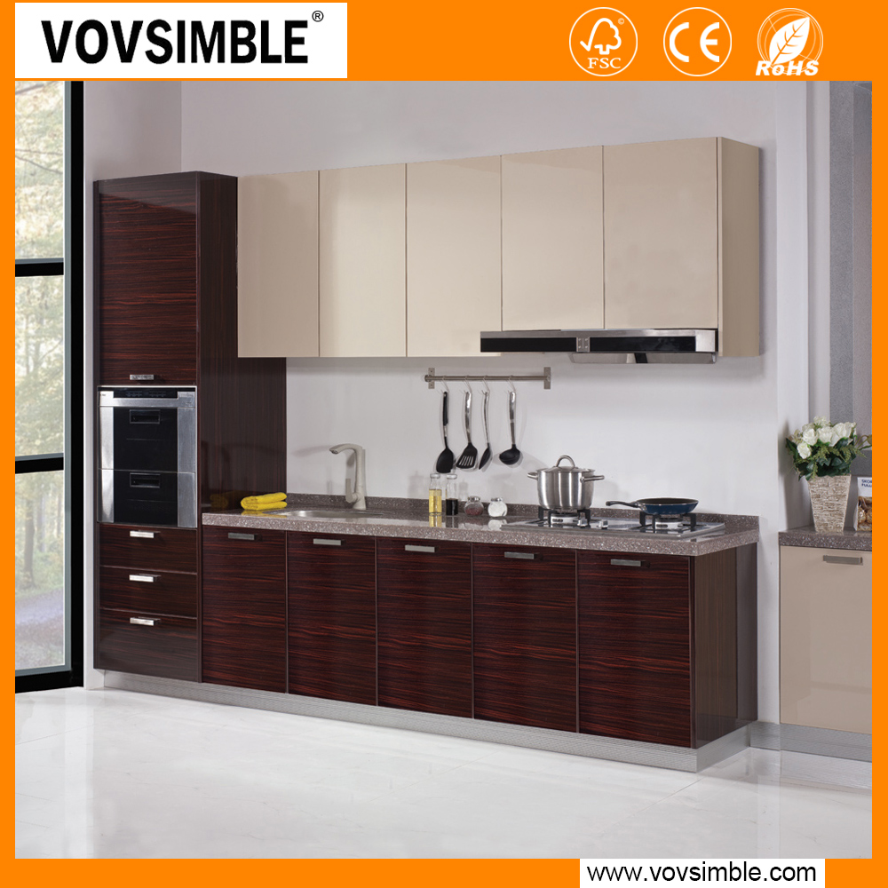 mdf madera contrachapada melamina gabinete de cocina modular de dise o simple cocinas. Black Bedroom Furniture Sets. Home Design Ideas