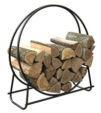 <span class=keywords><strong>Metall</strong></span> Log Hoop Outdoor Log Rack Innen Brennholz Lagerung Rack