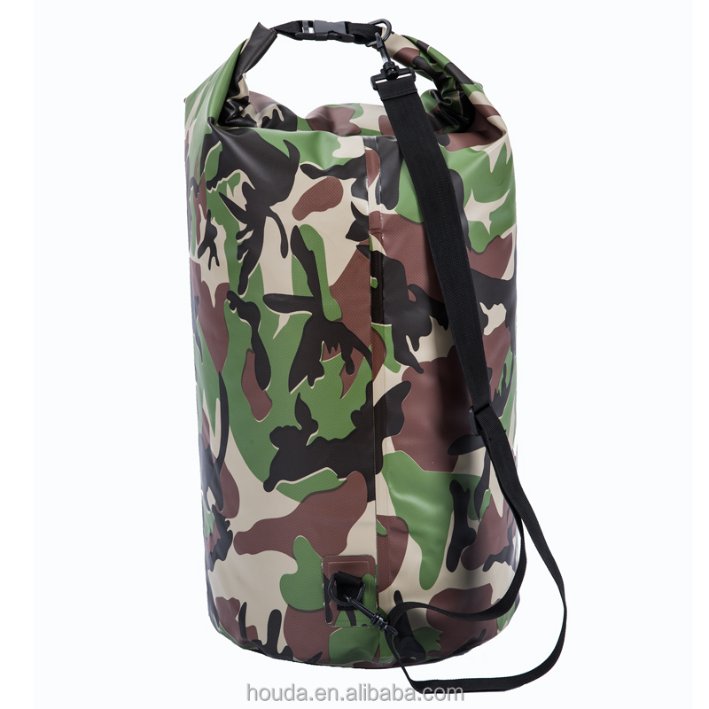 30L Camouflage Waterproof Container Dry Bag Outdoor Sports Back pack