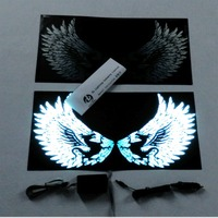 newest design sound activated butterfly EL flashing Car Sticker