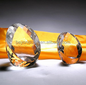 optical egg shaped crystal for shop decoration ,unique clear glass paperweight