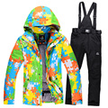 2016 Ski Suits Men Fall Winter Outerwear Outer Ski Jackets and Ski Pants Men s Windproof