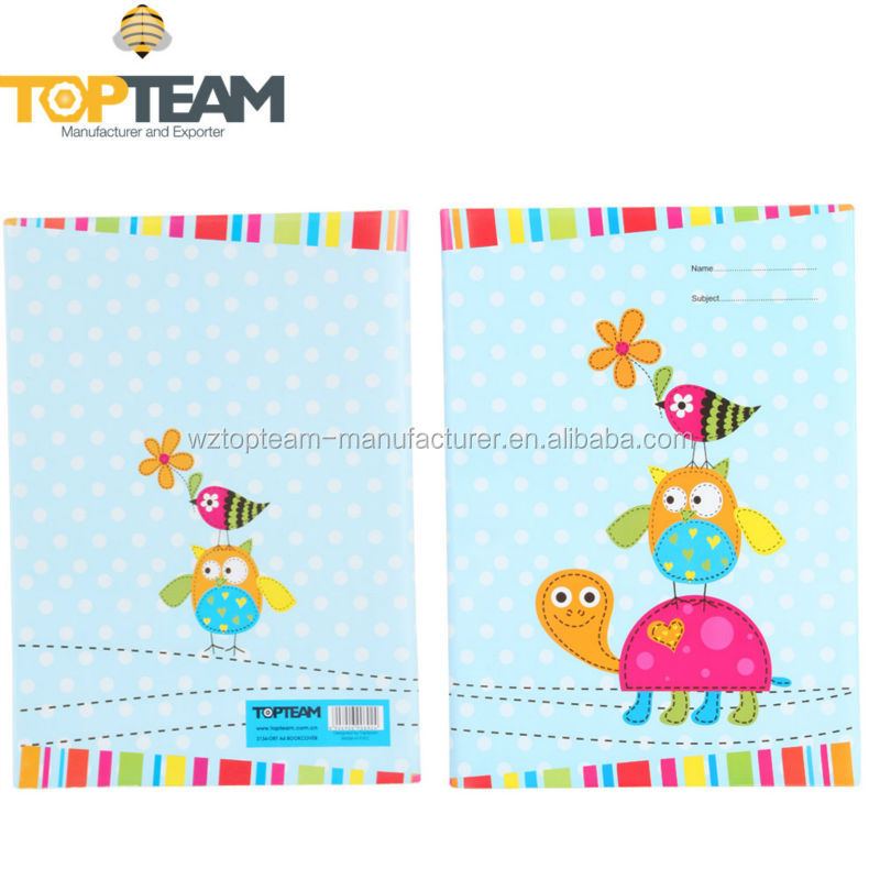 Pvc Book Cover With Cartoon Design - Buy Fancy Book Cover With ...