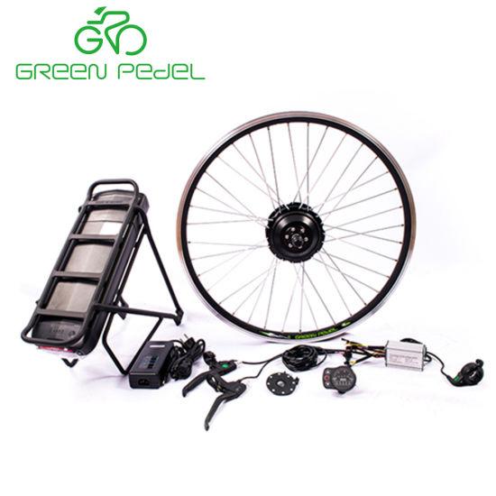 Greenpedel /24V36V/48V 250W gear motor electric bike kit with lithium battery, Black/silver