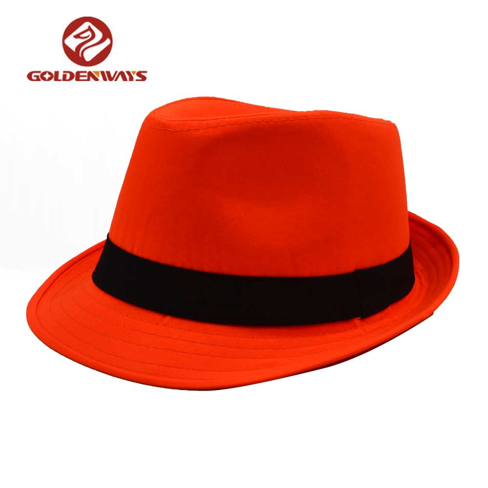c6eb422ebcaa2 Character Style Unisex Wool Felt Fedora Orange Hat - Buy Orange Hat ...