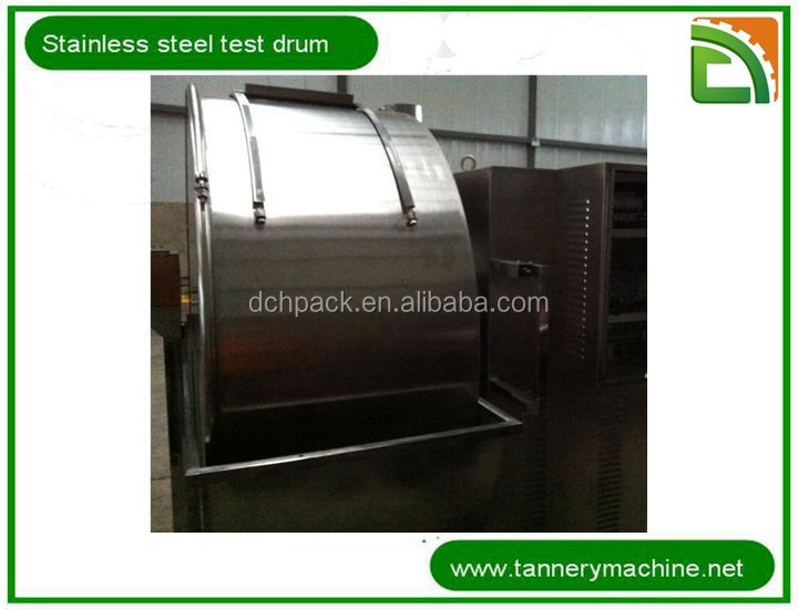 China 304 stainless steel soaking liming tanning dyeing test drum cow crust leather supplier