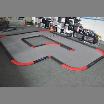 professional 6 square rubber track for car mini z track set kids toy cars