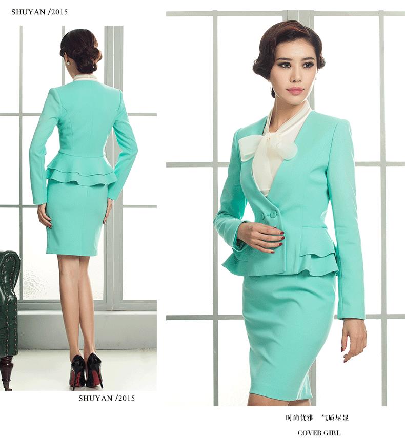 Custom Service Women Career Dress Offical Women Business Suit