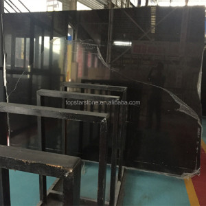 Cheapest China Pure Black Marble Slab,Absolute Black Marble Slab,King Black Marble