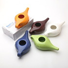 Ceramic Porcelain Pot Nasal Clean Neti Pot Wholesale Bulk White Blue Green Blue Red Home Daily Used Ceramic Porcelain Nasal Care Cleaning Neti Pot