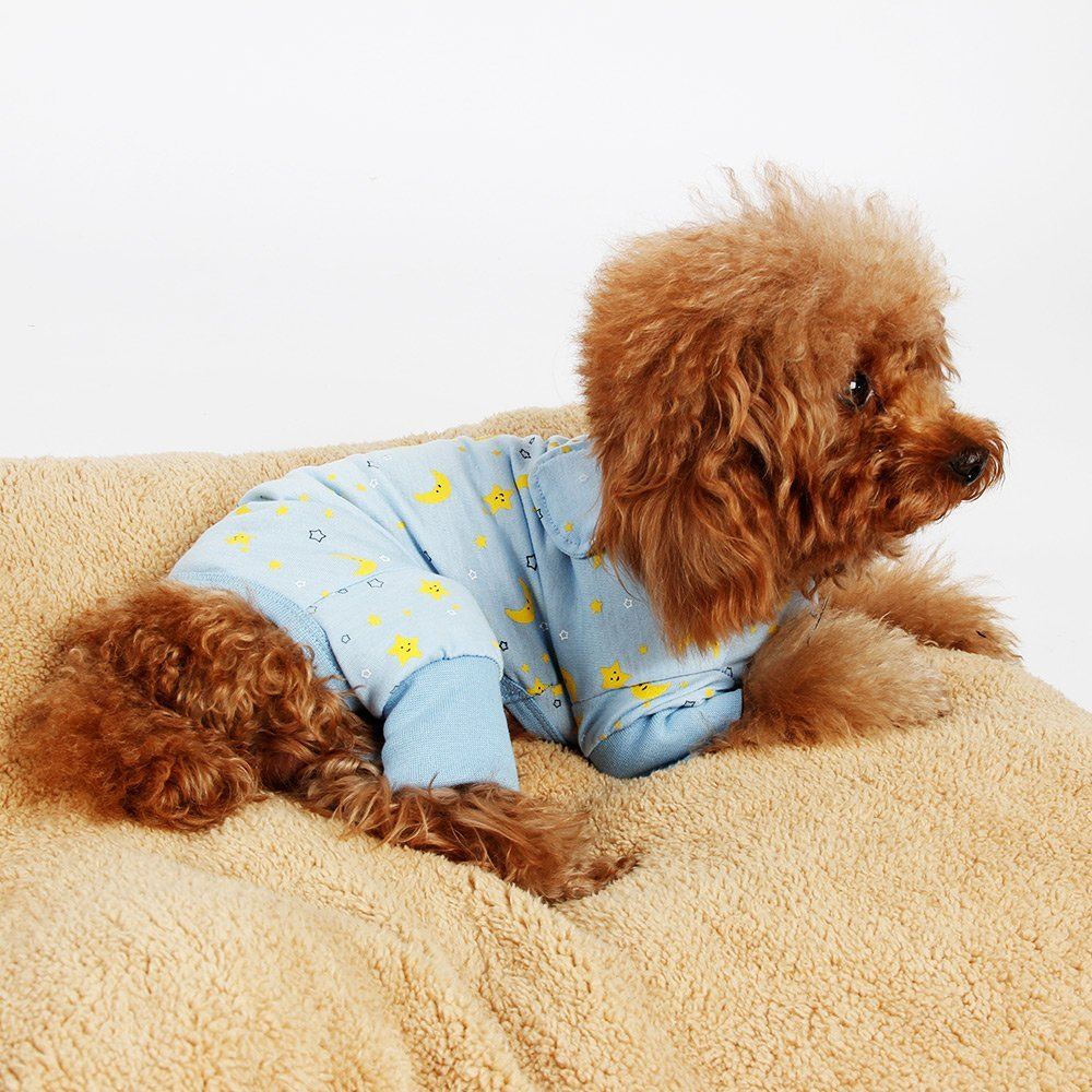 a2bd4c7ad7 Get Quotations · Dog Clothes Jumpsuit Pet Product Clothing Puppy Shirt Cat  Cozy Pajama Rose Blue
