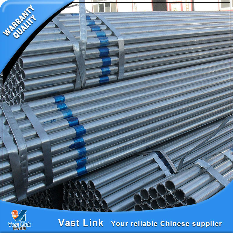 Multifunctional gi construction material threaded and plain head galvanized steel pipe