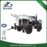 Quality assured new arrival 260m hole depth trailer type easy move water well drilling rig