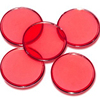 Customized 3/4inch 1.5mm thick acrylic translucent red bingo