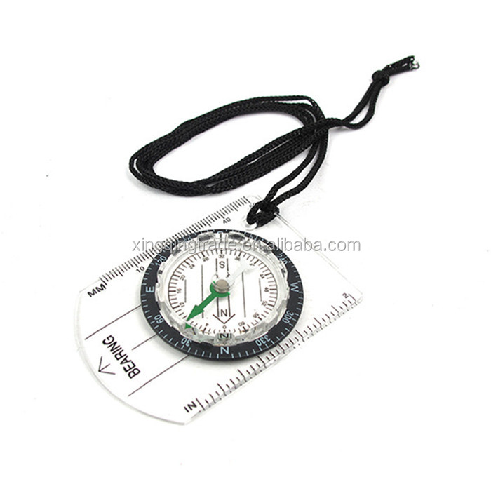 Transparent /& Black Mini Baseplate Compass Map Scale Ruler Outdoor Camping Hiking Cycling Scouts Military Compass