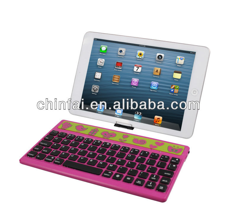 CE,FCC,ROHS plastic keyboard for iPad mini 2