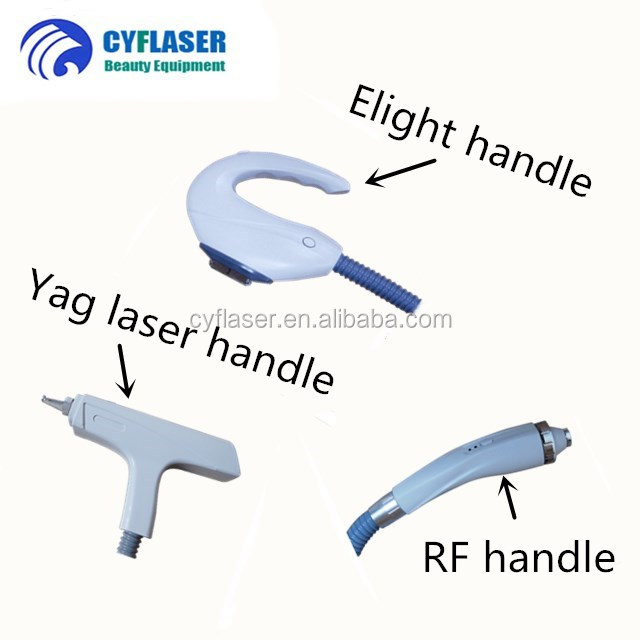 2018 stationary multifunction face lift tattoo hair removal machine e-light opt shr rf nd yag laser ipl