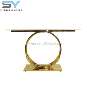 luxury console table with stainless steel base for sale