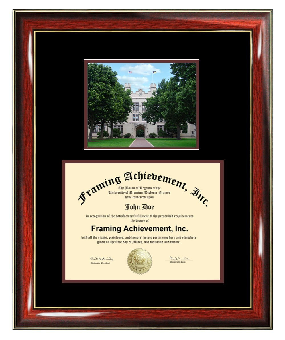 College of Wooster Diploma Frame - Wooster Graduation Degree Frame - Campus College Photo Graduation Certificate Plaque University Framing Graduate Gift