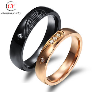 Chengfen jewelry factory direct sale the cheapest wholesale poison ss ring wedding ring set free sample