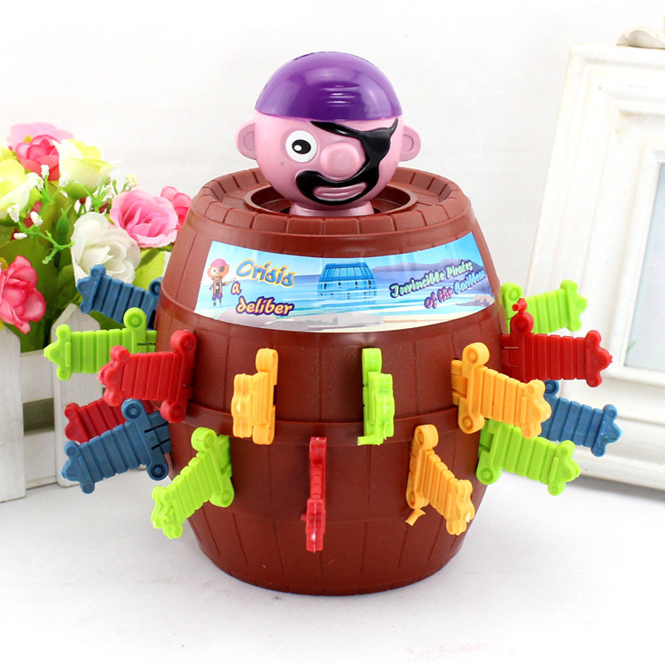 Strange and eccentric tricky toys funny pirate barrel uncle Collective interactive toys Office interactive toy Desktop