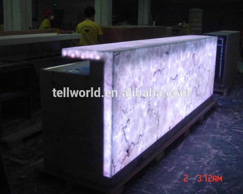 Moderno dise o de la barra comercial contador piedra for Disenos de barras para bar