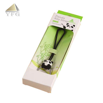 Panda shape custom silicone chain key ring