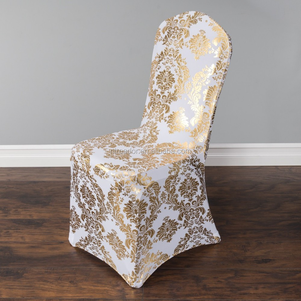Metallic Damask Stretch Banquet Chair Cover Buy