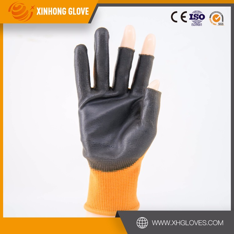 Anti cut thin oil proof milk white pu coating gloves used on paint