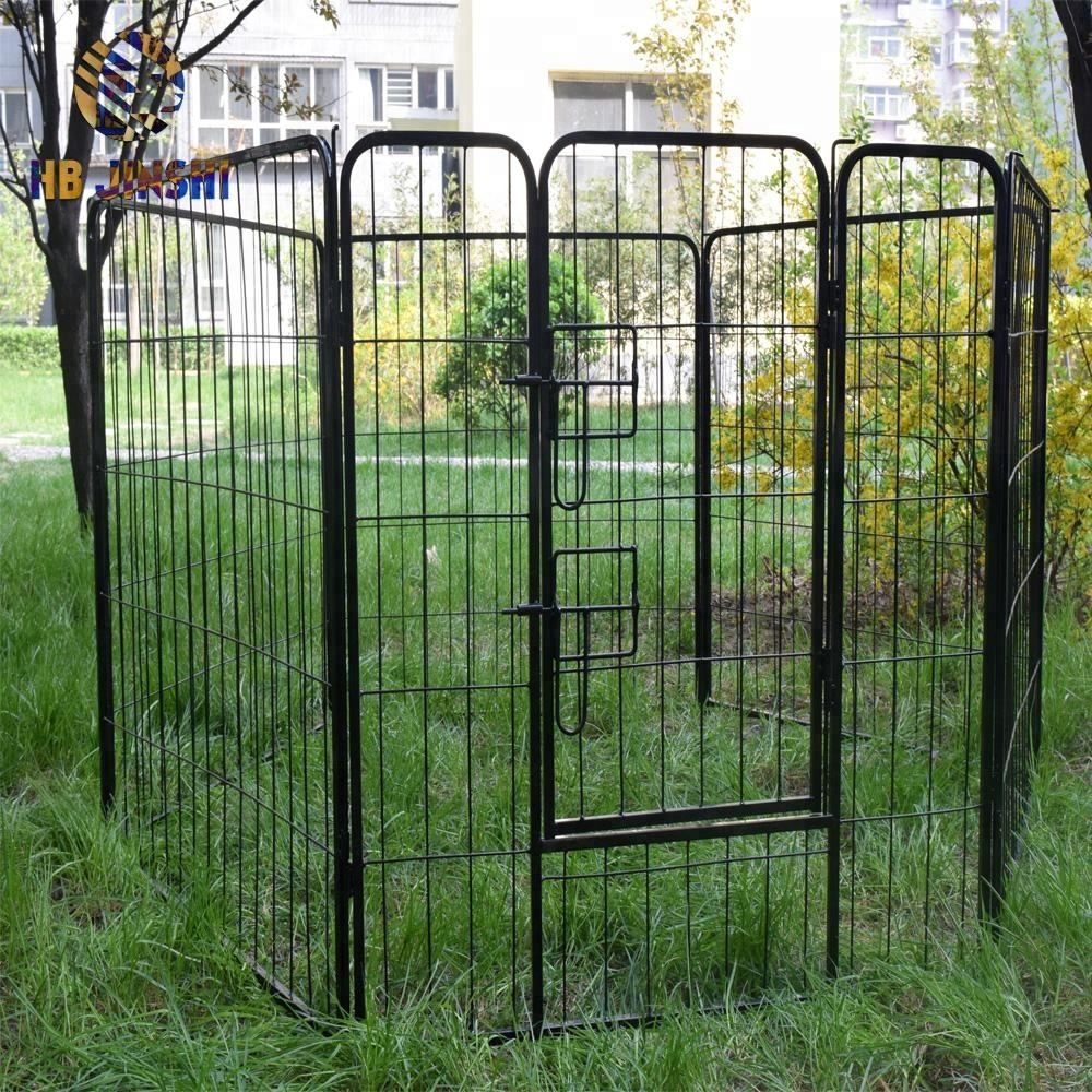 16 Panel Heavy Duty Cage Pet Dog Cat Barrier Fence Exercise Metal Playpen Kennel