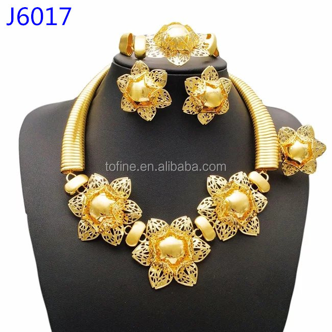Exquisite Hot Sale Italian Gold Jewelry Sets High Quality 18k Gold