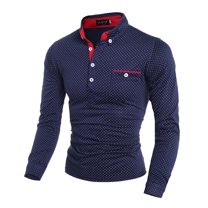 Buy Brand Designer Polo Shirt Men Classic Polo Shirts Long Sleeve ...