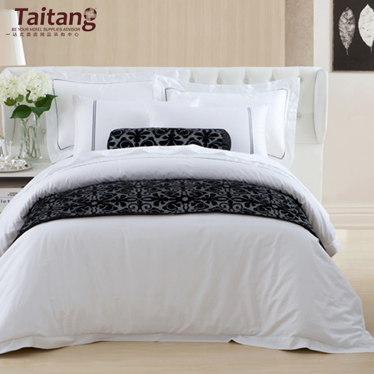 Home Textile Nice White Comforter Embroidered Bed Linens Bedding Set Duvet Cover Sets Hotel Linen