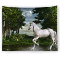 Cheap decorative fabric custom made tapestry wall hangings