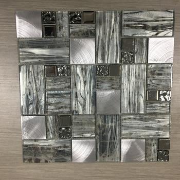 Mosaico In Vetro Metallo,Backsplash Cucina E Bagno Mattonelle Di ...