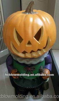 oem blow molding plastic blow mold halloween pumpkin plastic decoration