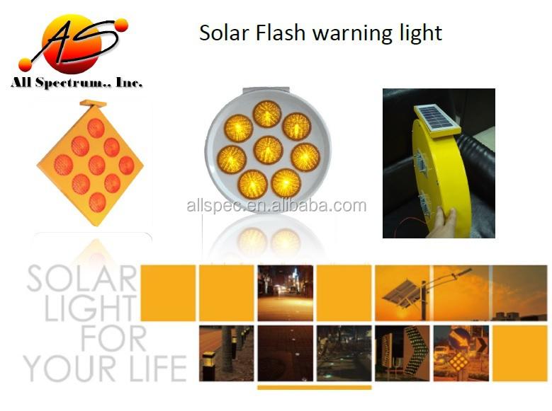 Central Dividers Hazard Marker Solar Square Form Bollard Led ...