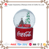 Super Supplier Coca Cola Audited Certificate Factory Polyresin Crafts Ball,Custom Resin Plastic Coca Cola Christmas Snow Globe