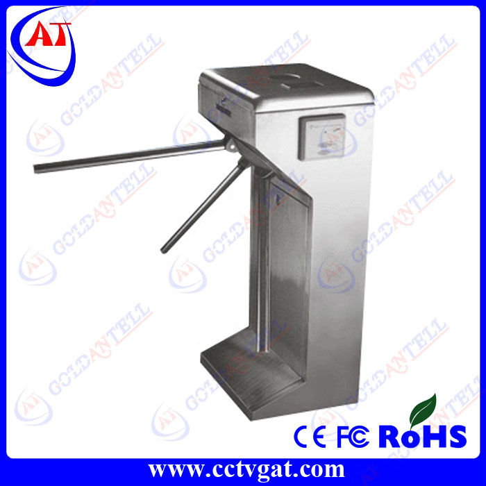 2013 new style Security RS485/TCP RFID card Vertical tripod turnstile gate