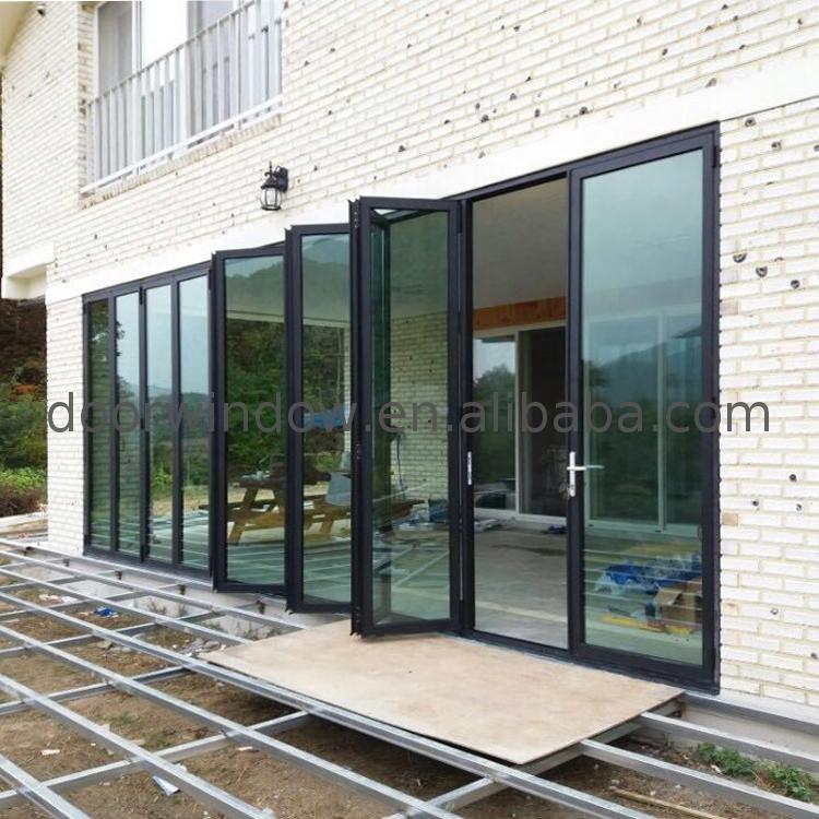 Aluminum folding glass door garage door/glass door/door Laminated glass accordion doors