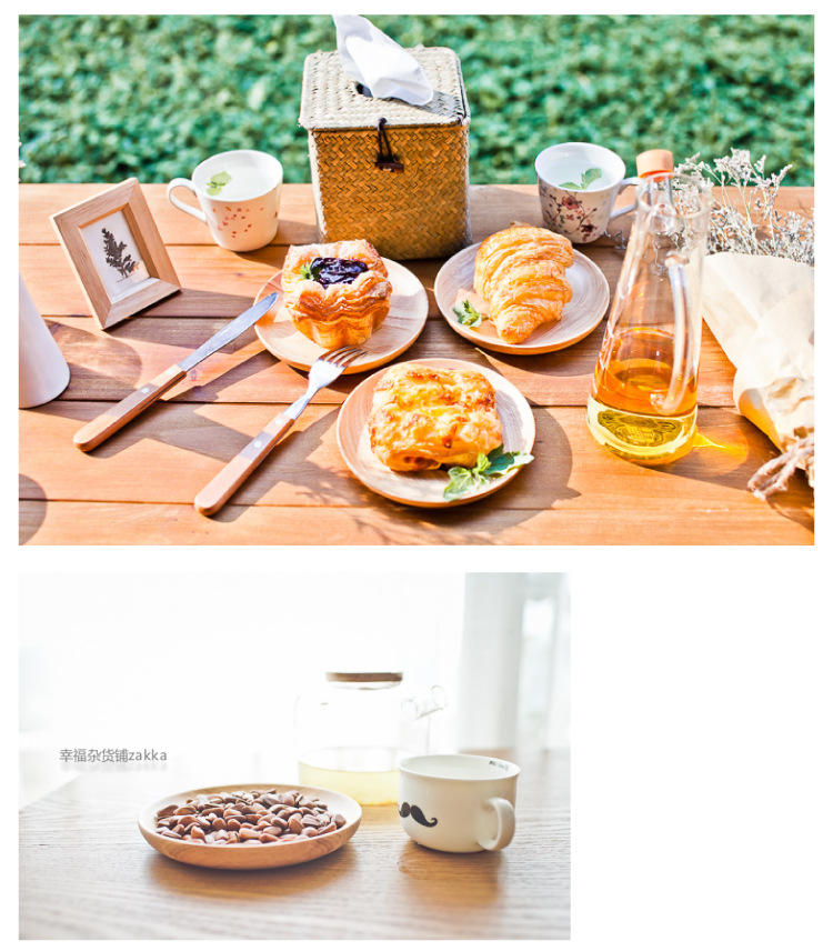 Different size round wood plate, bamboo food serving dinner plate , round bamboo dinner plate