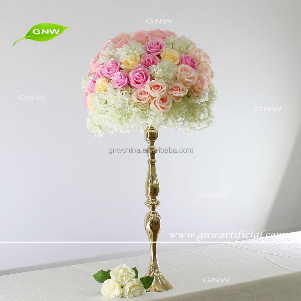 Gnw Wedding Table Centerpieces Silk Flowers Candle Holder Artificial