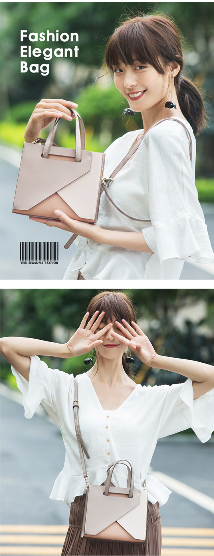Korean Style Luxury Leather Ladies Handbag Large Vegan  Women Bags Designer purse Manufactures