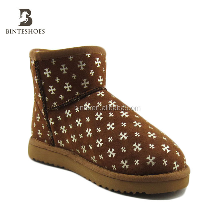 2017 wholesale china factory shoe fashion,cheap,warm winter snowboots top quality