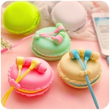 Macarons design in-ear Headphones Headset Earphones with Mic For IPHONE XIAOMI Samsung Galaxy S3/4 MP3/4 High Quality Earphone