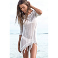 New 2016 Beach Tunic Sexy Swimwear Cover Up Women Beach Blouse Crochet Pareo Swimsuit Summer Beach