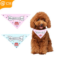 Custom Birthday Triangular Bandage dog bow tie cute cotton pet dogs bandana