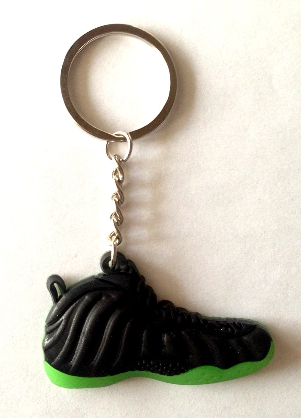 34f1dc83c04 Foamposite One Pro Neo Lime Green Penny Hardaway Sneakers Shoes Keychain  Keyring AJ 23 Retro Air